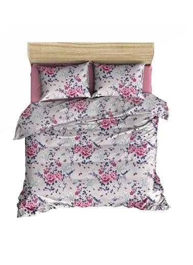 Maki Fleur Rose Tek Kişilik Nevresim ve Yastık Kılıfı Renkli